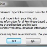 Recalculating Hyperlinks in Microsoft Expression Web 2