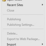 Manage Sites List in Microsoft Expression Web 3
