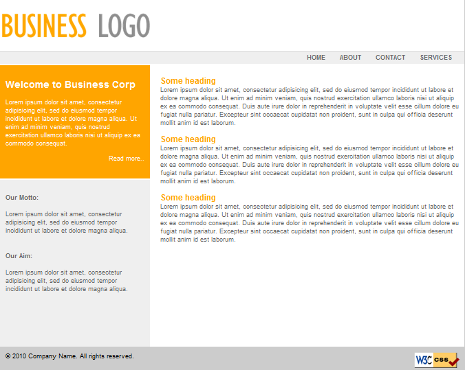 Free expression web template for small business saffron stroke filed under business expression web free website templates accmission Images