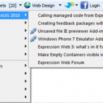Expression Web Community Toolbar