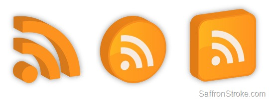3D RSS Icons
