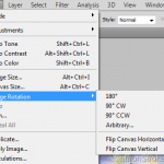 Rotate and Flip commands in Adobe Photoshop