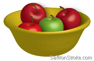 3D Fruit Bowl in Adobe Illustrator CS5