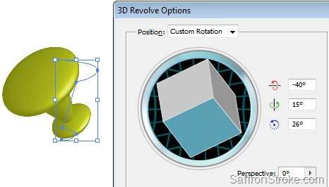 3d revolve options - rotation